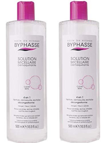 Byphasse Solution micellaire démaquillante pour peaux sensibles - 500 ml - Lot de 2