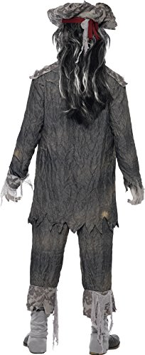 Smiffys Costume Ghoul Nave dei Fantasmi, comprende Giacca, Pantaloni e Cappello - L