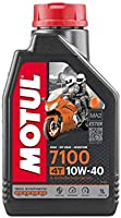 Motul 7100 4T Fully Synthetic 10W-40 Petrol Engine Oil for Bikes (1 L)