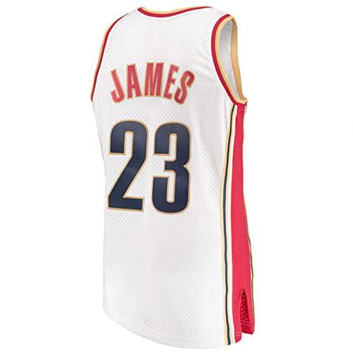 CNMDG Lebron James Herren Basketball Jersey, Cleveland Cavaliers und Lakers 23# Black Mamba Retro Basketball-Trikots, neutrales Mesh atmungsaktives und verschleißfestes T White-XL