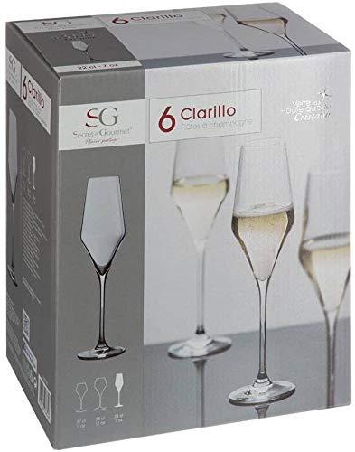 Lot de 6 flûtes à Champagne Clarillo