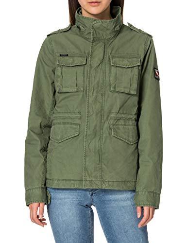 Superdry Jacket Chaqueta M65, Verde Oliva, L para Mujer
