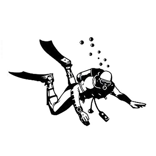 PMSMT 16,1 cm * 10,4 cm Moda Buceo Deportes Extremos Negro/Plata Vinilo Coche Pegatina Silueta decoración S9-1005