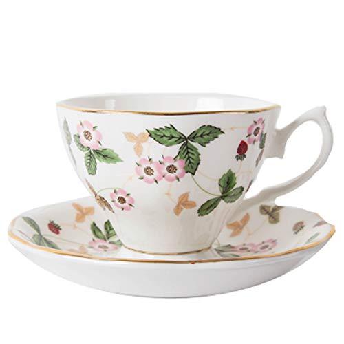 YSTSPYH Taza de Porcelana Conjunto de Regalo Conjunto de café Contenedor de cerámica de cerámica de té de cerámica Conjunto Conjunto de Taza de Leche Organizador Accesorios de Cocina (Color : 13)