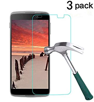 TANTEK [3-Pack] Screen Protector for Alcatel OneTouch Idol 3  5.5 inch ,Tempered Glass Film,Ultra Clear,Anti Scratch,Bubble Free,Case Friendly
