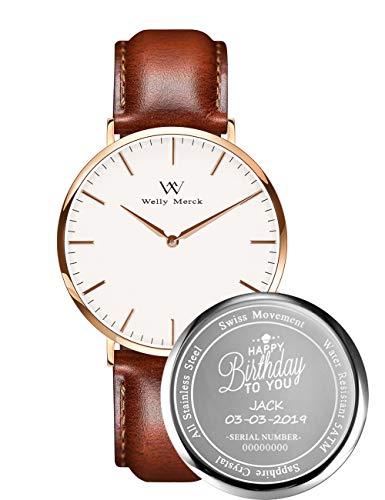 Welly Merck Custom Engraved Watch