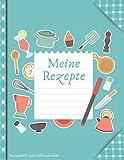 Rezeptbuch zum Selberschreiben: Blanko Kochbuch für 100 Rezepte ca. A4 (kochbuch selbst schreiben 2021)