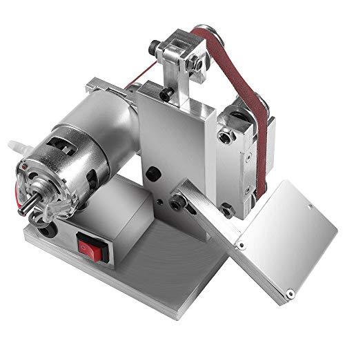 4500-9000RPM 7 Speed Adjustable DIY polishing machine Mini Belt sander Edge sharpener Sanding/Polishing/Grinding Machine for DIY Work - 10 * Belt + 4 * Wrench