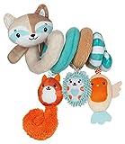Baby Clementoni- Happy Animals Espiral de Actividades para Sillita, Multicolor...