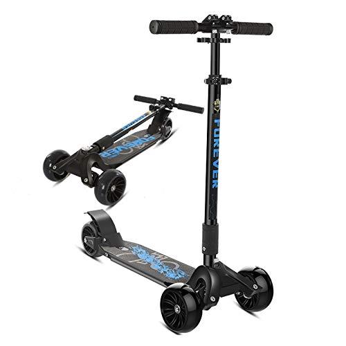 HYE-SPORT Micro Scooter para niños - Juguetes de Equilibrio de Entrenamiento de Scooter de 3 Ruedas - Ruedas de Destello de PU y 4 Altura Ajustable - Niños y niñas de 1 a 14 años