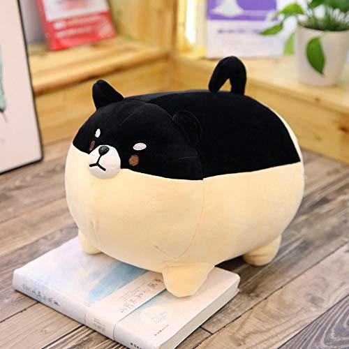 Pluche Soft Meng Corgi Doll Knuffel Rond Shiba Inu Ragdoll-black_40cm