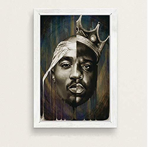 Wandkunst Bilder Hip Hop Rap Musik Kunst Malerei Leinwand Poster Wand Wohnkultur 40 * 60 cm Ohne Rahmen