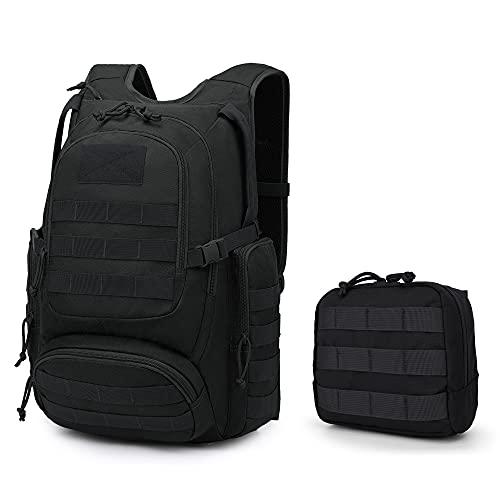 Mardingtop Mochila táctica mochila militar 25L para hombres y mujeres Molle Assault Pack Mochila para motocicleta Mochila para senderismo al aire libre, caza, acampada y accesorios, bolsa