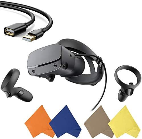 Oculus Rift S PC Powered VR Gaming Headset Black Two Touch Controller 3D Positional Audio Insight product image