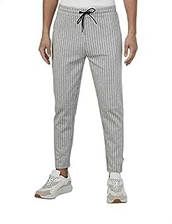 Splash Drawstring Elastic Waist Striped Slim Fit Sweatpants for Men -, S