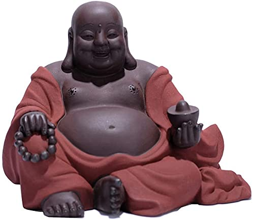 Desktop-Skulptur Maitreya buddha statue dekoration keramik lachend buddha glückliche skulptur home wohnzimmer tee set tee tisch handwerk dekoration geschenk