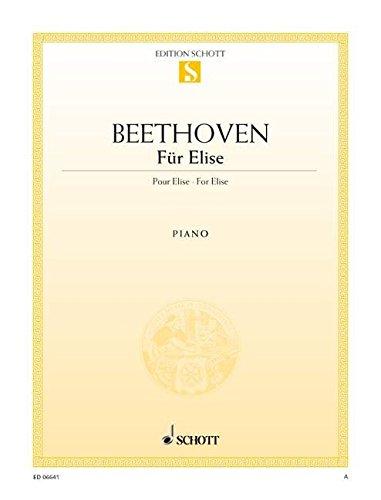 Für Elise: Albumblatt. WoO 59. Klavier. (Edition Schott Einzelausgabe)