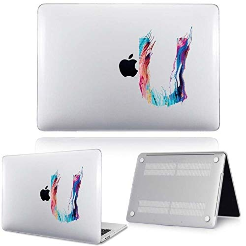 For Apple For Macbook Air 11'13'/ New Air 13'(Touch Id) , 2018 2020 - Printed 26 Initial Letters Laptop Hard Shell Cover Case