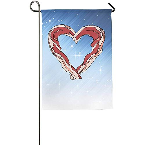 KDU Fashion Flag Banner, Ich Liebe Speck-Welkom Match-vlaggen-Patio-Tuin vlaggen-Decor 32 cm x 48 cm