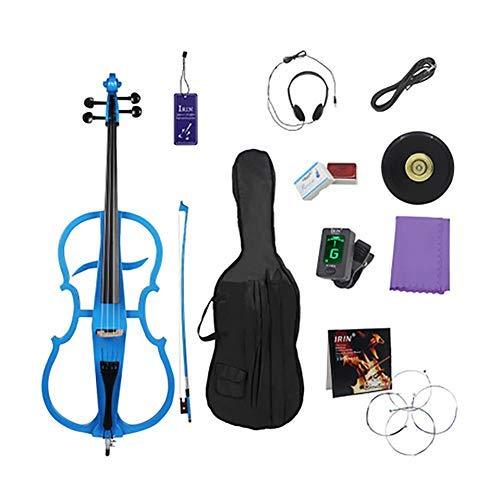 Eléctrico Violonchelo Estudiante 4/4 Violoncello Instrumento Musical Rendimiento de Gama Alta Etapa Profesional Sólido Violonchelo electrónico de Madera Maciza,Blue