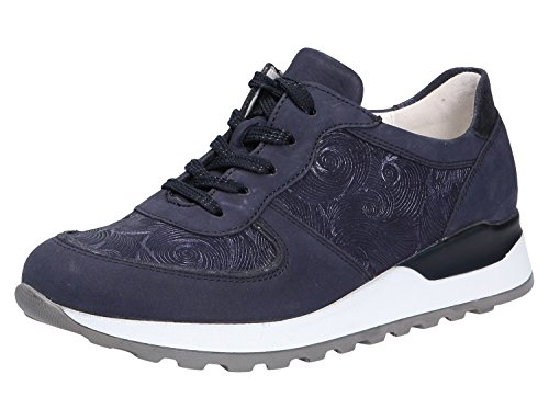 Waldläufer Damen Schnuerschuhe Sneaker Hiroko 364013 423 200 blau 383605