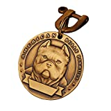 Pure Copper Pet ID Tags, Personalized Dog Tags,Three-Dimensional Relief pet Pattern, Lettering on The Front and Back. Custom pet Tags (Bully, Large)
