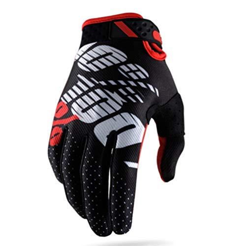 Guantes de Moto Primavera Verano Dedo Completo Tela Transpirable Impermeable Palmas Antideslizantes Guantes de Carreras de Motocross de Secado fácil
