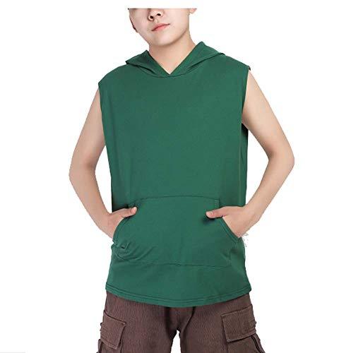 WYFC Encapuchado Outwear Sin Costura Largo Binder de Pecho Muchachota Pecho Plano Sujetador Deportivo para transgénero Lesbianas,Green,m
