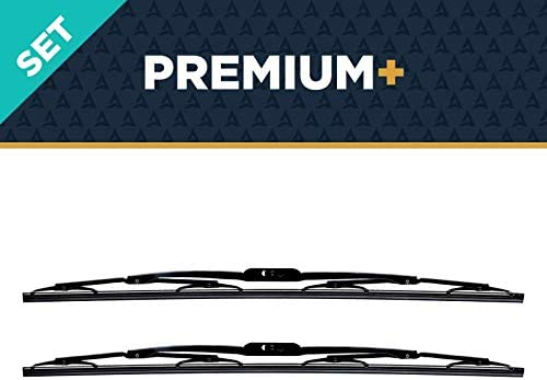 """AutoTex - M6Pro Premium+ Automotive Wiper Blades - Universal Replacement Windshield-Wipers - Heavy Duty - All-Weather - 2 Pack (24""""/24""""): image"""