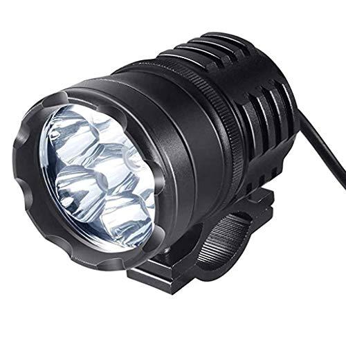 freneci Luces de Conducción de Motocicleta Faro para Coche Barco Super Brillante Negro 45W