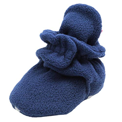 LEXUPE Unisex Neugeborenes Schneestiefel Weiche Sohlen Streifen Bootie Kleinkind Stiefel Niedlich Stiefel Socke Einstellbar(A-Dunkelblau,12)