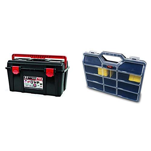 Tayg 131004 Caja Herramientas plástico nº 31, 445 x 235 x 230 mm + - Estuche con separadores moviles n.45