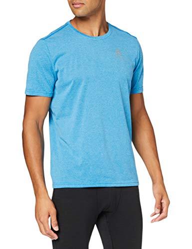 Odlo Herren s/s Crew Neck Millennium Element T-Shirt, Blue Aster Melange, L