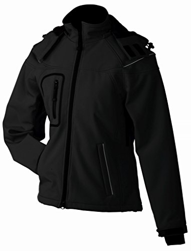 James & Nicholson Damen Jacke Softshelljacke Winter schwarz (black) Large