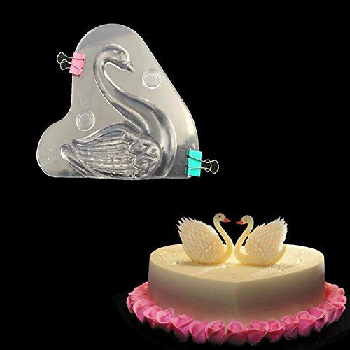 3D Swan a forma di scarpa per cioccolatini policarbonato Candy Jelly mousse muffa DIY di cottura che decora gli attrezzi Gadg