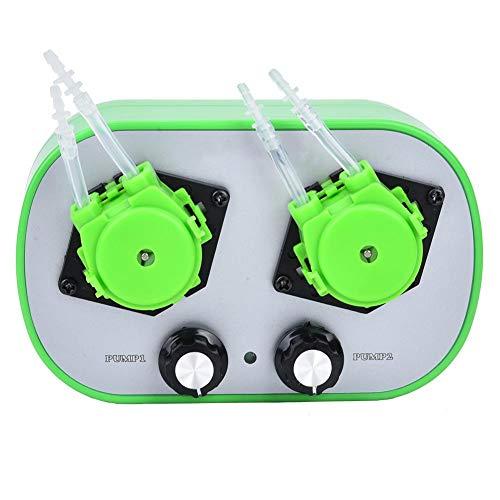 Acogedor Pumpe Peristaltik,Schlauchpumpe Kleine peristaltische Miniaturpumpe Automatische selbstansaugende Pumpe 100-240V,Miniatur Schlauchpumpe für kleine Wassermengen usw(G628-2-2)