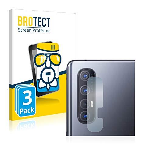 BROTECT Panzerglas Schutzfolie kompatibel mit Oppo Find X2 Neo (Kamera) (3 Stück) - AirGlass, 9H Festigkeit, Anti-Fingerprint, HD-Clear