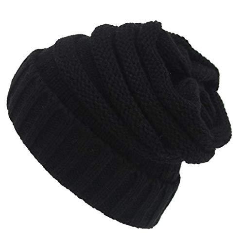 Warm Strickmütze Hut Beanie Cap Maxi-knitting Hut Stilvolle Woll Strick...