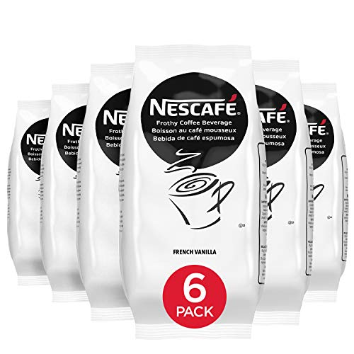 Nescafe Instant Coffee, French Vanilla Flavor Cappuccino Mix, Instant Flavored Coffee, 32-Ounce Bags (Pack of 6)