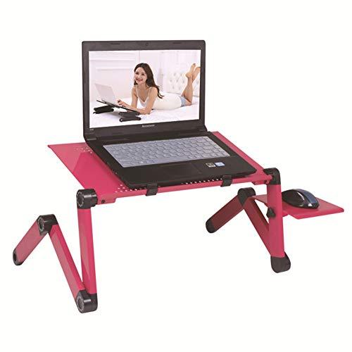 ZZXHOME Vassoi di appoggio per PC Portatili, Supporto in Alluminio Regolabile Portatile per Laptop con Ventola per Divano, Letto, Ufficio e Picnic,Ros