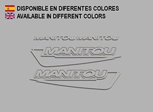 Ecoshirt 54-UMRA-UEQ1 Aufkleber Manitou F215 Stickers Aufkleber Decals Adesivi Bike BTT MTB Cycle, Silber