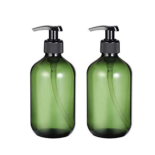 Towinle 2 Stück Spenderflasche Seifenspender Lotionspender Leer Flasche Leere Shampoo Pumpflaschen Lotion Container Nachfüllbare Seifenspender Flasche 500ml
