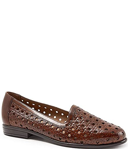 [トロッターズ] シューズ 23.5 cm パンプス Liz Woven Leather Loafers Brown レディース [並行輸入品]