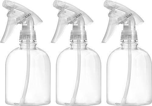 Bar5F Empty Clear Spray Bottle 16 oz. Adjustable Head Sprayer from Fine to Stream (Pack of 3)