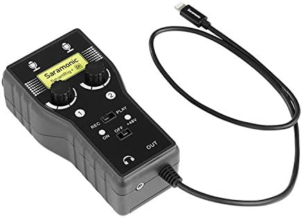 Saramonic 2 Channel XLR 6 35mm Guitar Audio Interface SmartRig Di Lightning Connector Compatible product image