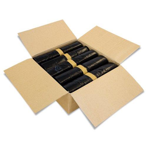 100 Stück Abfallsäcke - Farbe Schwarz - Volumen 240 Liter - 10 Stück auf Rolle - Müllsäcke aus LPDE-Regenerat