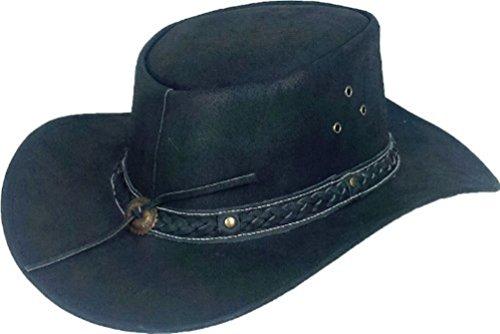 Unicorn London -  Cappello da Cowboy - Uomo Nero Large