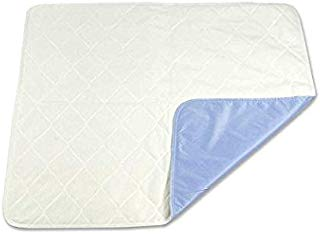Platinum Care Pads Soft Touch Extra-Absorbent Washable Underpad/ Bed Pad, Blue - 34x36 in., Each - Absorbs up to 8 Cups, Waterproof, Leak Proof Edge, Machine Washable - for use with incontinence