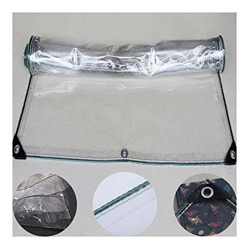 GYYARSX-Die Plane Transparente Plane Draussen Balkon PVC Schutz Vor Dem Wind Hör Auf Zu Regnen Isolierung Anti-Rost-Knopfloch Säumen Design, 16 Größen (Color : Clear, Size : 4.0X5.0M)