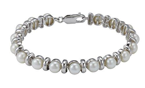 Pearl Dreams Pulsera para mujer de plata 925 rodiada - PD52